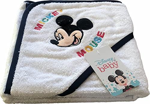 ELLEPI Albornoz para bebé de Disney Baby | Precioso albornoz triangular con Mickey y Minnie Mouse | 100% algodón – disponible para niños y niñas de 3 a 36 meses