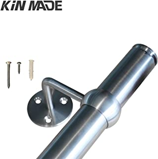 KINMADE Stainless Steel Handrail Kit 1.2M 4FT Brackets Included