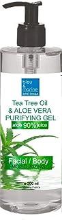 100% Natural Gel de Aloe Vera Refrescante & Hidratante Rostro Cuerpo con Aceite Esencial de Árbol de Té Purificante Dispen...