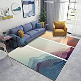 Home Area Runner Rug Pad Japanese Background with line Wave Pattern Vector Abstract Template Thickened Non Slip Mats Doormat Entry Rug Floor Carpet for Living Room Indoor Outdoor Throw Rugs