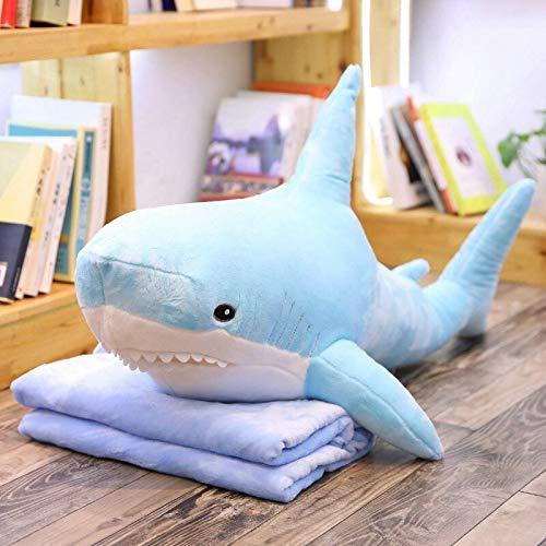 Ksydhwd Peluches Tiburón Gigante Ruso De 60cm De Ike, Almohada De Tiburón De Peluche, Juguetes De Peluche, Cojín De Sofá Grande para Niñas, Niños