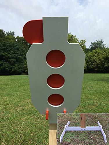 Magnum Target AR500 Steel Target 3/8' Zipper Hostage Reactive Dueling Tree Shooting 2x4 Stand New