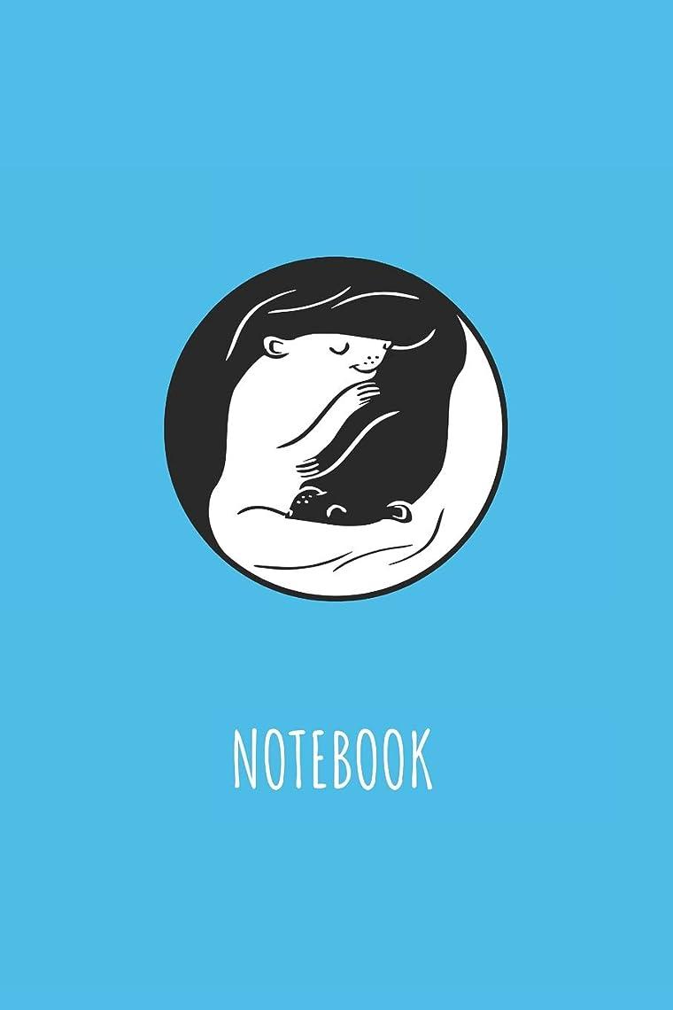 ワット宿泊泣き叫ぶNotebook: Blank Lined Journal 6x9 - Cute Ferret Ying And Yang Pet Lover Gift