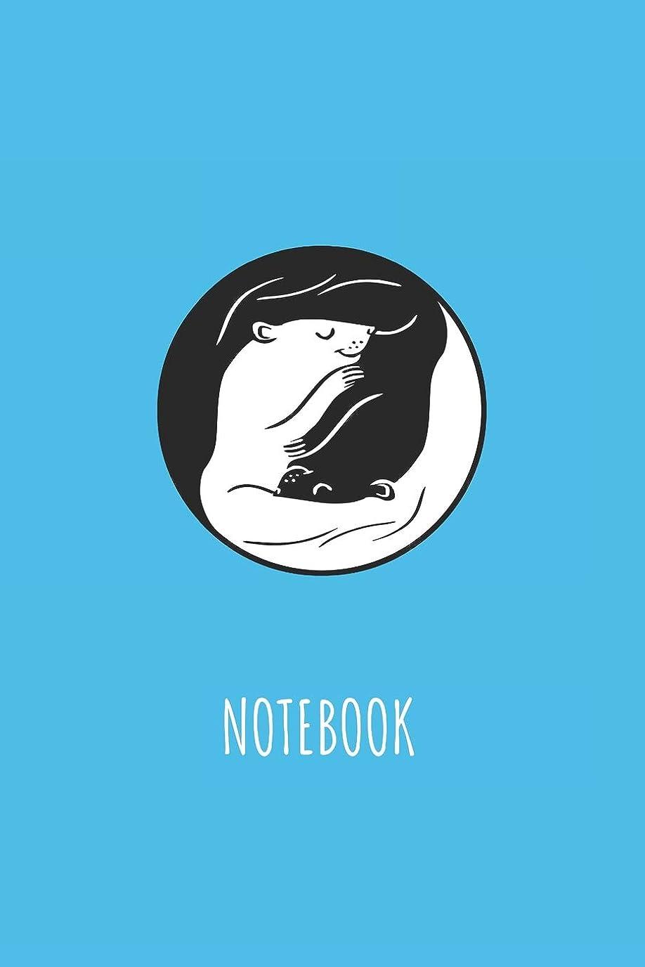 休みソーシャル伝記Notebook: Blank Lined Journal 6x9 - Cute Ferret Ying And Yang Pet Lover Gift