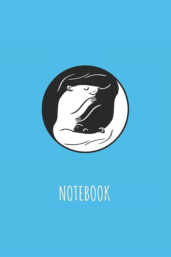 メガロポリス反動猛烈なNotebook: Blank Lined Journal 6x9 - Cute Ferret Ying And Yang Pet Lover Gift