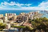 ZZXSY Puzles Adultos 1000 Piezas Vista Aérea Panorámica De Málaga En Un Hermoso Día De Verano España Apto