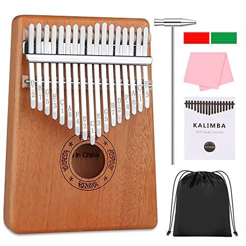 DIAOCARE Kalimba 17 Schlüssel,Kalimba Instrument Daumenklavier Mbira mit Stimmhammer Studienanleitung,Hochwertiges afrikanisches Holz,Geschenk für Kinder Anfänger