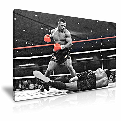 Mike Tyson's bester Schlag, Leinwandbild mit Boxmotiv, 76 x 50 cm