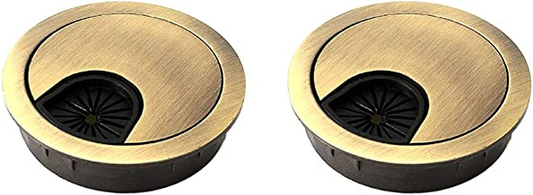 WJUAN 2 stuks High End Desk Caps 60 mm | Cord Hole Cover Organizers voor bureaus, kantoor & werkbladen | Kleur: zwart | Ma...