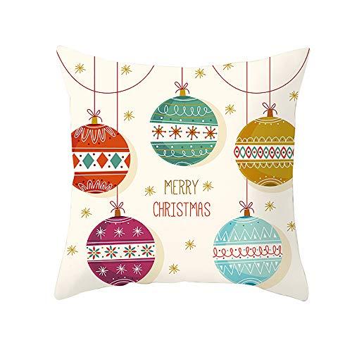HMboom kussenslopen/fluweel kussenslopen 18 x 18 inch / 45 x 45 cm (2 set) voor slaapbank auto, vierkant, fluweel, Kerstmis