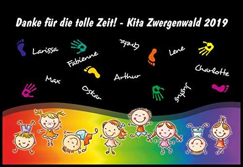 Werbetreff Gera Fußmatte Kita Abschiedsgeschenk Erzieherin Kindergarten Schulanfang Geschenk, Teppich, Deko (75 x 50 cm)