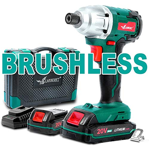 Buy Cheap Brushless Cordless Impact Driver-20V Max Li-Ion LANNERET 1/4 Inch Hex Impact Driver Combo ...