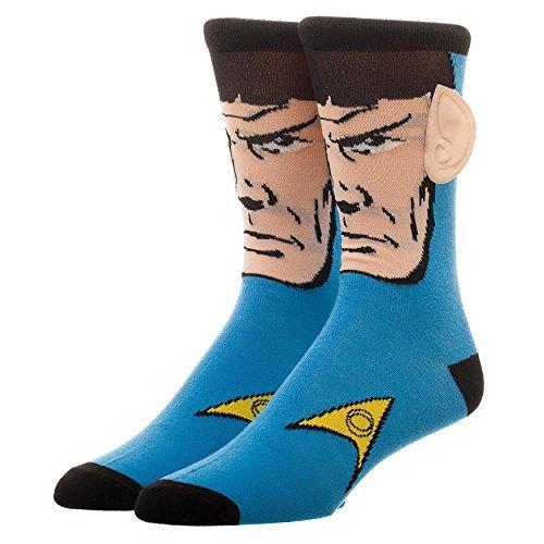 Hommes Star Trek Spock Chaussettes avec des oreilles bleu 3D