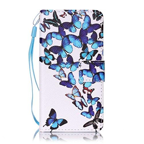 Nancen Compatible with Handyhülle Huawei Y3 II / Y3 2 (4,5 Zoll) Hülle, Bunt PU Leder Brieftasche Schutzhülle Bookstyle Flip Case Wallet Cover mit Standfunktion - 2