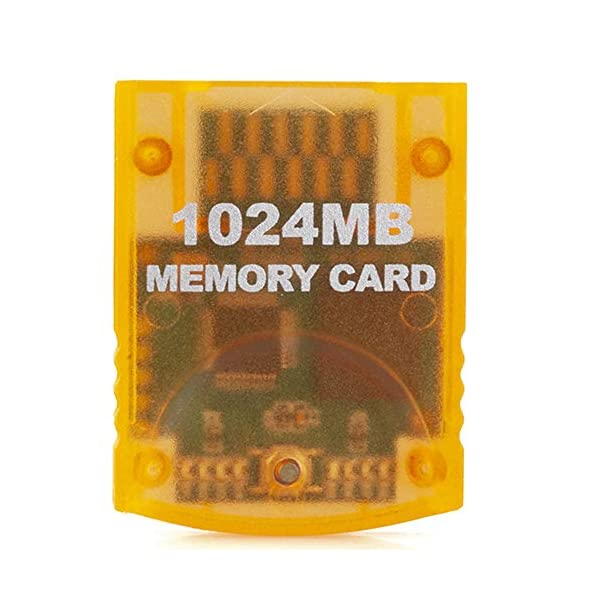 RGEEK 1024MB(16344 Blocks) High Speed Game Memory Card Compatible for Wii Gamecube.