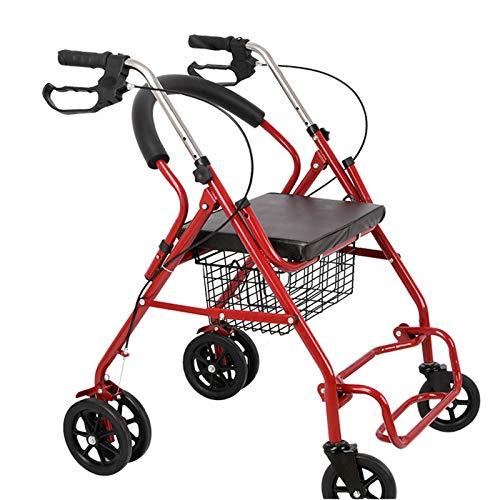 Caminador Andador para Ancianos, Mayores, Adultos o Minusválidos, Ayuda para Caminar, Regulable en Altura, Aluminio, Ligero,Shopping Box
