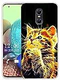 Sunrive Kompatibel mit Ulefone Gemini Hülle Silikon, Transparent Handyhülle Schutzhülle Etui Hülle (X Katze)+Gratis Universal Eingabestift MEHRWEG