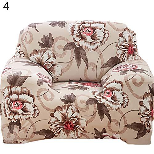 HshDUti Couverture de Housse de Meubles de canapé Stretch Pastorale Floral imprimé Housse de Protection 4# 2 Seater