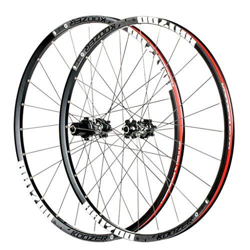 Ruedas MTB para bicicletas Juego de ruedas de bicicleta 26 / 27.5 pulgadas Cubo de cassette de llanta de aluminio de doble pared Rodamiento sellado Freno de disco QR 24 orificios 8-11 velocidades