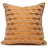 HOUMEL Cubiertas de cojín Decorativo Naranja Cajas de Almohadas de Tela de Rayas de Lujo Ligero Casas de Almohada de Tela con Relleno para Sala de Estar sofá sofá 45 cm x 45cm / 50cm x 50cm 452