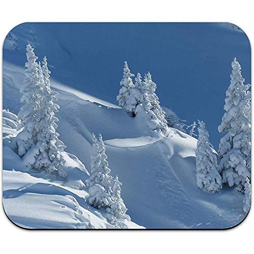 Sneeuwbedekte berghelling - Snowboarden Skiën muismat Mousepad
