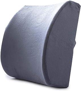 LRXGOODLUKE Cojín de Gel Soporte Lumbar, Espalda ergonómica Soporte Almohada para el hogar Oficina Coche Viaje aliviar Inferior de la Espalda ciática Dolor de Disco