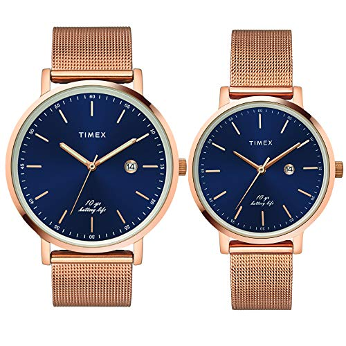 Timex Analog Blue Dial Unisex's Watch for Lovers
