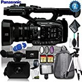 Panasonic AG-UX90 4K/HD Industry Camcorder + Padded Backpack + 32gb Memory + Led Light w/ 72 Inch Tripod + 3PC Filter + Gaffer Tape + Cleaning Kit w/ (2 YR Warranty)