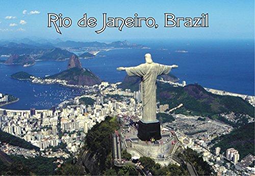 Rio de Janeiro, Brazil, Statue, Skyline, Christ the Redeemer, Souvenir Magnet 2 x 3 Photo Fridge Magnet