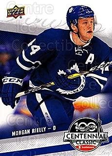 (CI) Morgan Rielly Hockey Card 2016-17 UD Toronto Maple Leafs Centennial Classic 6 Morgan Rielly