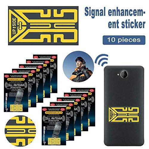 Syfinee Cell Phone Signal Enhancement Stickers 1//10 Pcs Cellphone Phone Signal Enhancement Signal Antenna Booster Stickers