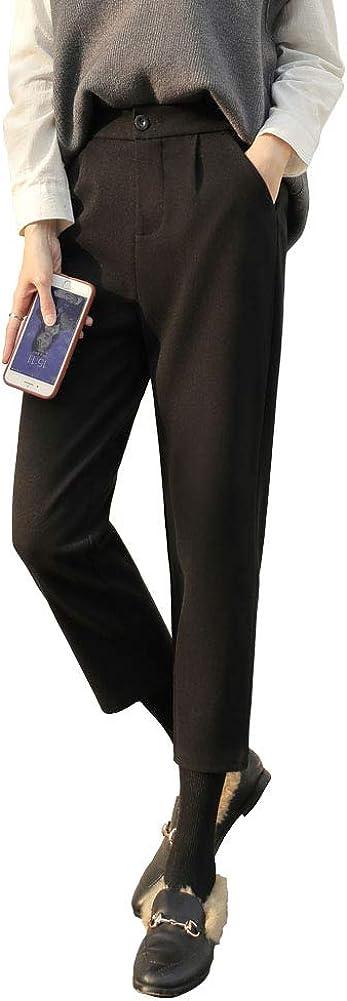 Van Royal Women's Classic Fit Straight Leg Suit Pant High Waist Elastic Trousers Dress Pants