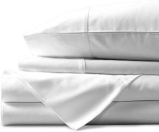 Airomis Presents 4 PC Sheet Set 100% Organic Cotton 600 TC Premium Sheet Set, Soft & Luxurious Long Staple Italian Finish ...