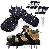 WYNDCM Zapatos de aireador de césped con Correas de Gancho y Bucle, escarificador de aireador de césped de tamaño Libre Zapatos de Punta de aireador de césped para césped o Patio
