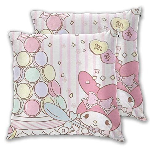 Yuanmeiju Melody Pillowcase Decorative Covers Square Throw Pillow Covers Set Cushion Cases Pillowcases for Sofa Bedroom 22'X22' Inch