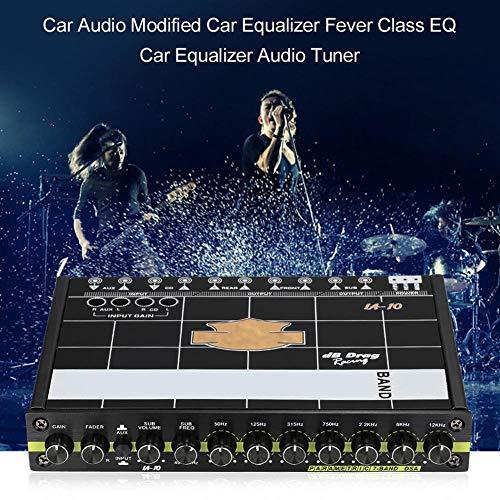 JIASHU Ecualizador de Audio para el automóvil Ecualizador Modificado Clase EQ 7s Ecualizador Ecualizador de sintonizador, Regulador de Graves Sistema de Ecualizador de sintonizador estéreo, Potencia