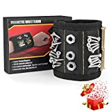 XCHUACAI Magnetic Wristband, Upgrade Tool Belt with 15 Strong Magnets for Holding Screws, Nails, Drill Bits. Best Unique Tool Gift for Men, DIY Handyman, Father/Dad, Husband, Boyfriend, Him, Women