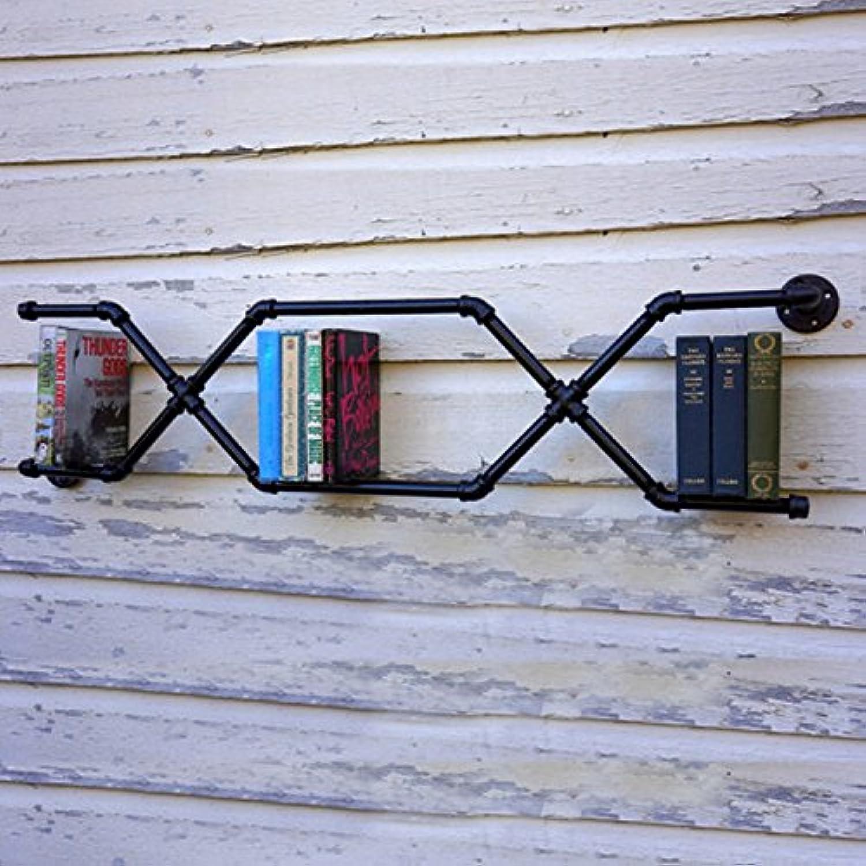 Wall Decoration Iron Pipe Retro LOFT Iron Bookshelf Industrial Water Bookshelf Walls Wall Mounts Shelf