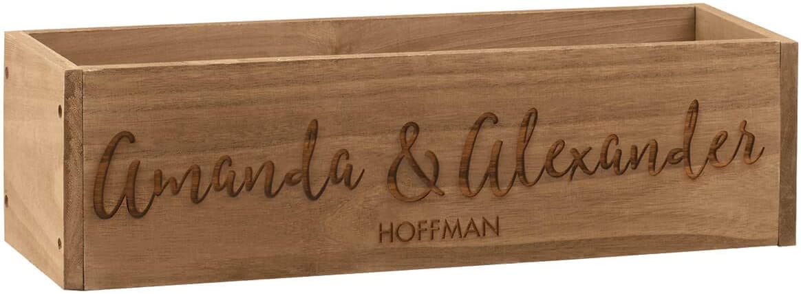 Fox Valley Traders Personalized Sales results No. 1 Rustic Decorative Box Planter B New Free Shipping