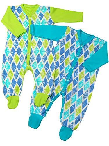 Klekle Klekle Baby Jungen Schlafanzüge (2er Pack) Grün Türkis 22825 Größe 62