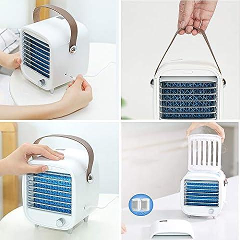 AZJ-AJR-Tabla-pequeos-Ventiladores-USB-Recargable-pequeo-Ventilador-porttil-CREA-un-Culto-Personal-de-enfriamiento-Brisa-Ideal-para-Viajes-Dormitorio-Dormitorio-y-OficinaBlanco