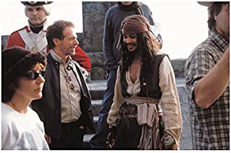 Pirates of the Carribean Captain Jack Sparrow Johnny Depp on Set with Cast and Crew 8 x 10 Photo