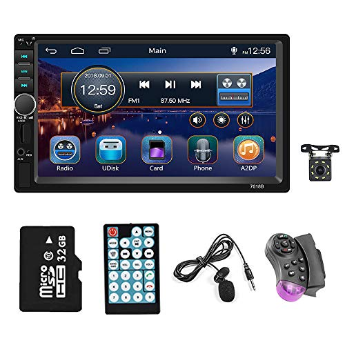 2021 New Double din 7 inch Touchscreen car Stereo Receiver 1080P HD Digital Video Player Bluetooth FM Radio for car Support SD/AUX/USB/U Disk MP5 Radio with Backup Camera