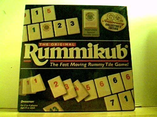 The Original Rummikub - The Fast Moving Rummy Tile Game 60th Anniversary Collector's Edition