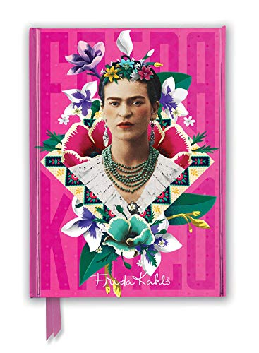 Frida Kahlo Pink (Foiled Journal) (Flame Tree Notebooks) (Premium Notizbuch DIN A 5 mit Magnetverschluss)