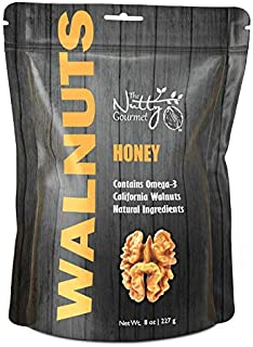 The Nutty Gourmet Honey Flavored Walnuts - Keto Snacks - Healthy Snacks - Walnuts Nuts - Heart Healthy Trail Mix - Farm Fr...