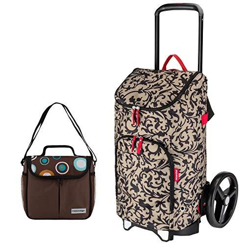 reisenthel citycruiser Rack + citycruiser Bag 45 l Einkaufstrolley Baroque Taupe + Mini Kühltasche
