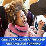 BCOZZY Kinder Nacken und Kinn stützendes Reisekissen – unterstützt den Kopf, Hals und das Kinn. Ein Patentiertes Produkt. Kindergröße, MARINEBLAU - 5