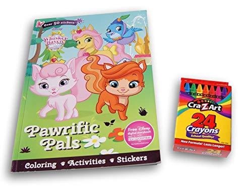 Palace Pets Whisker Haven Coloring & Activity Book with Stickers and 24 Crayons Bundle