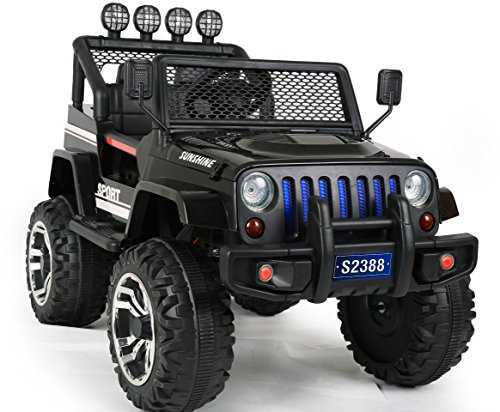 Ricco S2388 Kids Ride On Car with Remote Control LED Lights and Music